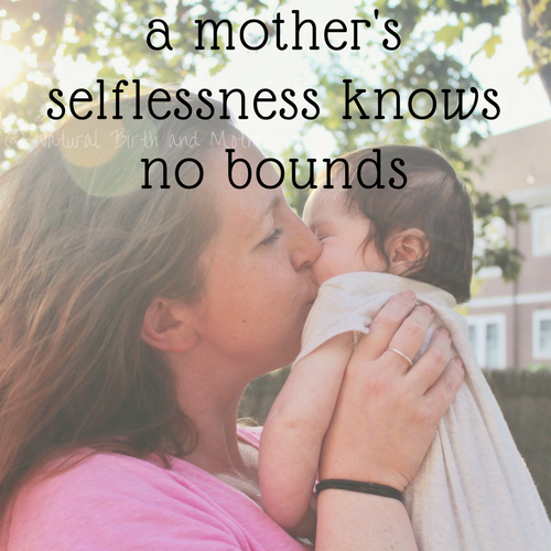 a mother's selflessness knows no bounds