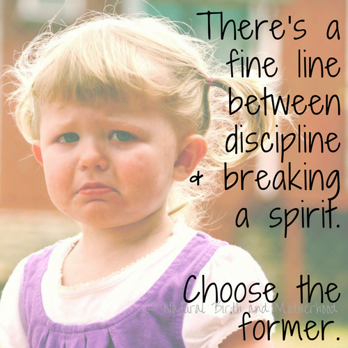 There's a fine line between discipline and breaking a spirit