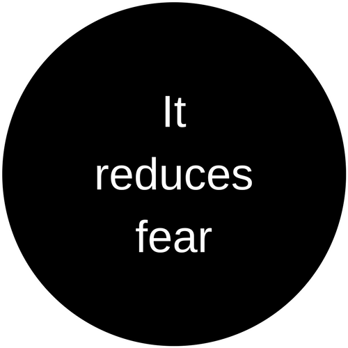 It reduces fear