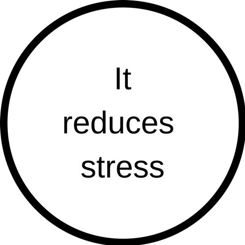 It reduces stress