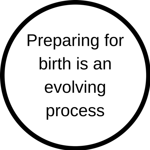 Preparing for birth is an evolving process