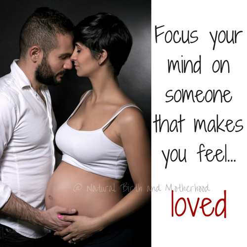 focus your mind on someone that makes you feel loved